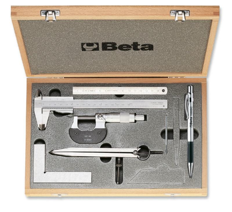 BETA 1685/C7 7 részes szerszámkészlet méréshez és jelöléshez kofferban (BETA 1685/C7)