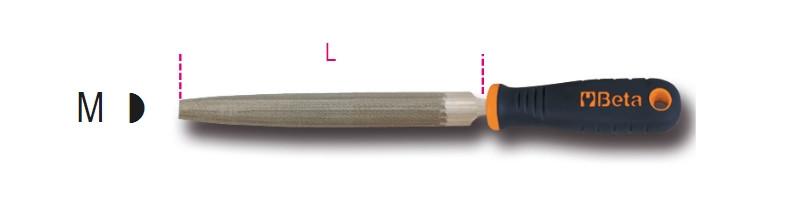 BETA 1719BMA6/M Félkerek egyengető reszelő markolattal (BETA 1719BM A6/M)